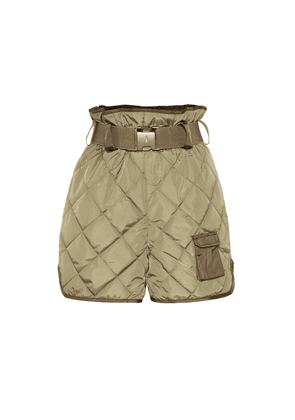 Quilted high-rise shorts