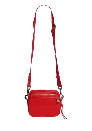 Logo Reversible Leather Crossbody Bag