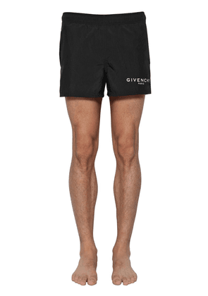 Logo Printed Nylon Swim Shorts