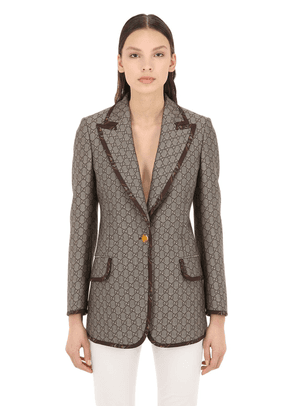 Gg Supreme Cotton & Wool Blend Blazer