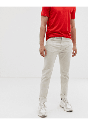 Weekday pine straight cropped jeans in ecru