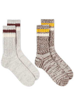 Anonymous Ism Mix Lines Crew Sock - 2 Pack