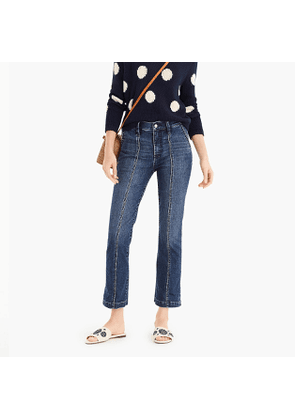 Tall demi boot-cut jean with front seams in pure indigo wash
