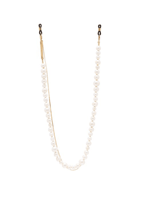 Frame Chain - Pearly Princess Pearl & 18kt Gold Plated Chain - Womens - Pearl