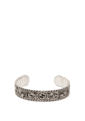 Gucci - Tiger Head Sterling Silver Cuff Bracelet - Mens - Silver