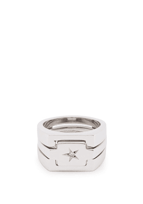 Alan Crocetti - Star Diamond Embellished Sterling Silver Ring - Mens - Silver