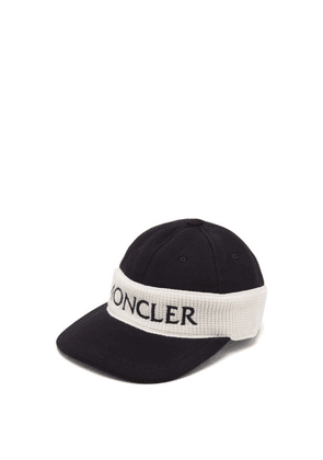 Moncler - Fitted Logo Embroidered Cotton Cap - Mens - Black Multi