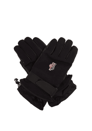 Moncler Grenoble - Twill And Leather Technical Ski Gloves - Mens - Navy