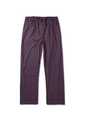 Derek Rose - Checked Cotton Pyjama Trousers - Navy