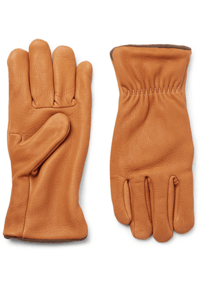 Best Made Company - Fleece-lined Nubuck Gloves - Camel