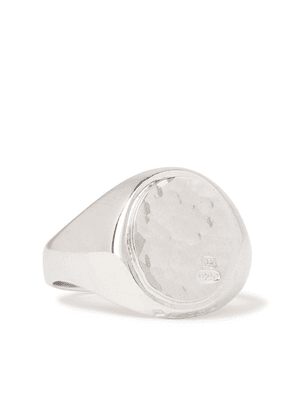 Bunney - Hammered Sterling Silver Signet Ring - Silver