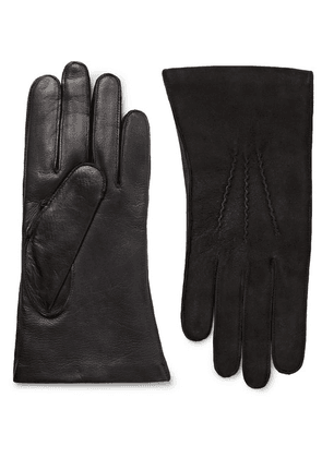 Dents - Warwick Cashmere-lined Suede And Leather Gloves - Black