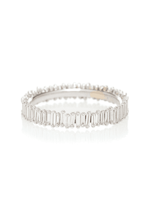 18kt white gold and diamond eternity ring