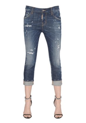 Cool Girl Cropped Washed Jeans