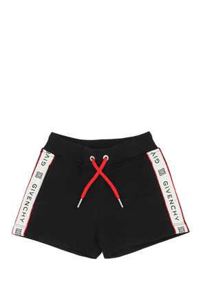 Logo Jacquard Cotton Sweat Shorts