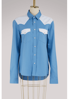 Shirt with contrasting pockets