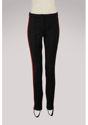 Technical jersey stirrup legging with crystals