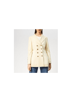 Philosophy di Lorenzo Serafini Women's Military Style Blazer - Cream - IT 38/UK 6 - Cream