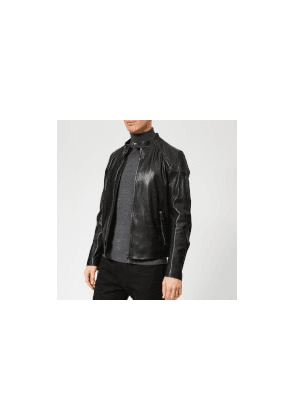 Belstaff Men's Leather Racer Jacket - Black - IT 48/M - Black