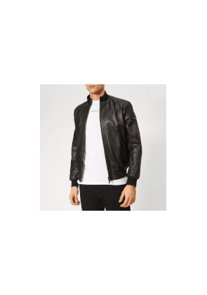 Emporio Armani Men's Leather Jacket - Nero - 50/M - Black