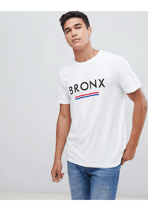 New Look t-shirt with Bronx print in white