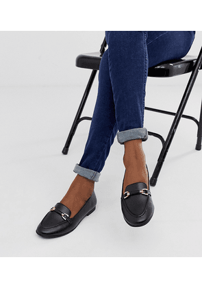 New Look chain detail loafer in black