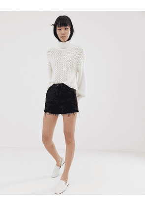 New Look mom shorts in black