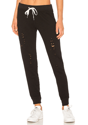 n:philanthropy Nikki Distressed Sweatpants in Black. Size S,XS.