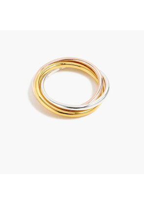 Demi-fine 14k gold-plated rolling ring