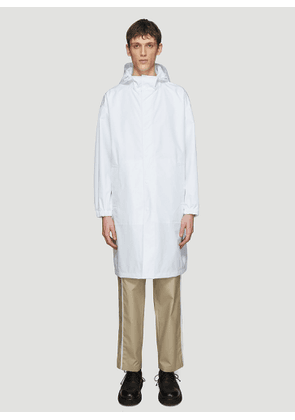 Helmut Lang by Parley for the Oceans Recycled Hooded Nylon Raincoat in White size M