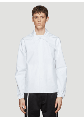Helmut Lang by Parley for the Oceans Recycled Nylon Stadium Jacket in White size XL