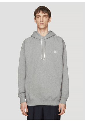 Acne Studios Hooded Oversized Face Patch Sweatshirt in Grey size S