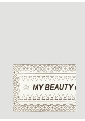 GmbH My Beauty Offends You Intarsia Knit Scarf in White size One Size