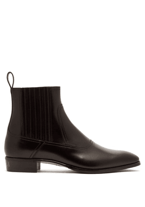 Gucci - Plata Leather Chelsea Boots - Mens - Black