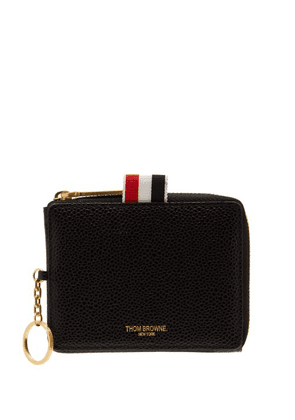 Thom Browne - Pebbled Leather Coin Pouch - Mens - Black