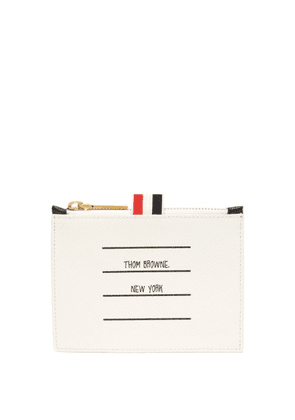 Thom Browne - Address Label Pebbled Leather Coin Purse - Mens - Black
