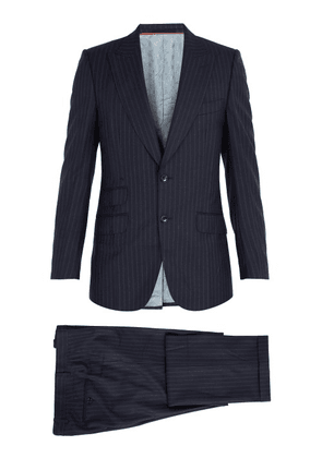 Gucci - Pinstriped Wool Suit - Mens - Navy