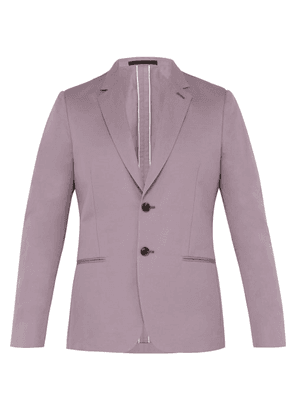 Paul Smith - Single Breasted Cotton Blend Blazer - Mens - Purple