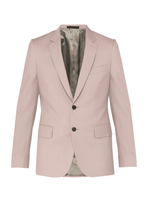 Paul Smith - Soho Tailored Wool Blend Suit Jacket - Mens - Light Pink
