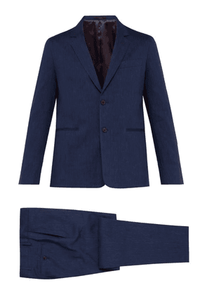 Paul Smith - Soho Tailored Fit Wool And Linen Blend Suit - Mens - Navy