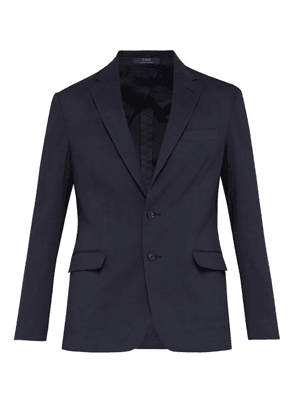 Polo Ralph Lauren - Single Breasted Cotton Blend Blazer - Mens - Navy