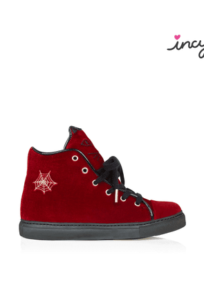 Charlotte Olympia Sneakers Women - INCY PURRRFECT HIGH TOPS RED Velvet 29