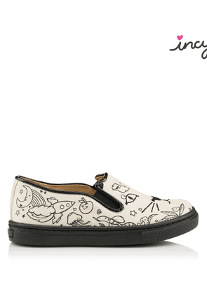 Charlotte Olympia Sneakers Women - INCY COOL CAT CRAYOLA OFF WHITE COTTON 26