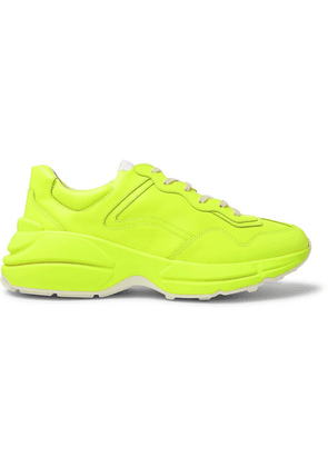 Gucci - Rhyton Leather Sneakers - Bright yellow