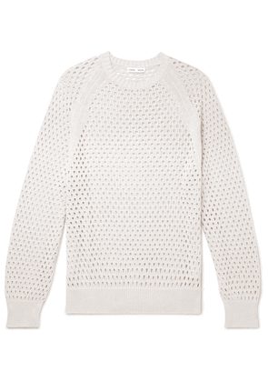 CMMN SWDN - Toby Knitted Cotton Sweater - Off-white