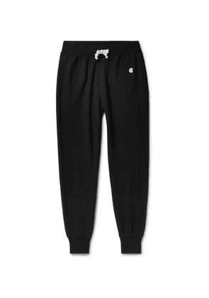 Todd Snyder + Champion - Tapered Loopback Cotton-jersey Sweatpants - Black