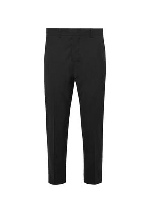 AMI - Black Cropped Wool Suit Trousers - Black