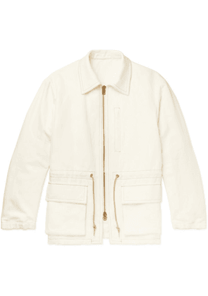 Camoshita - Cotton And Linen-blend Canvas Field Jacket - Off-white
