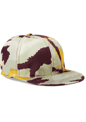 Valentino - Camouflage-print Shell And Leather Baseball Cap - Multi