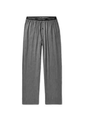Calvin Klein Underwear - Checked Cotton-blend Pyjama Trousers - Gray